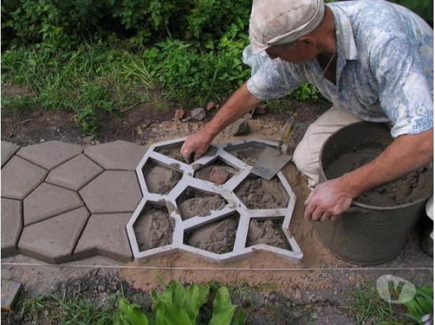 Stampo giardino 43x43 - Aiuole giardino fai da te ...